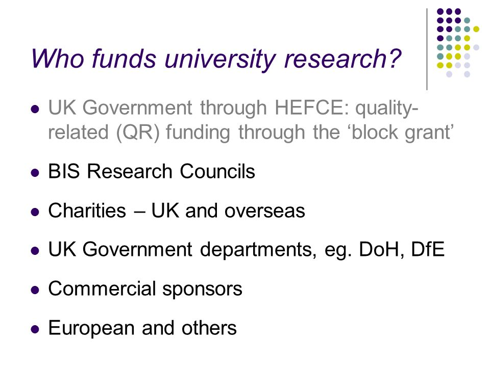 Who funds university research
