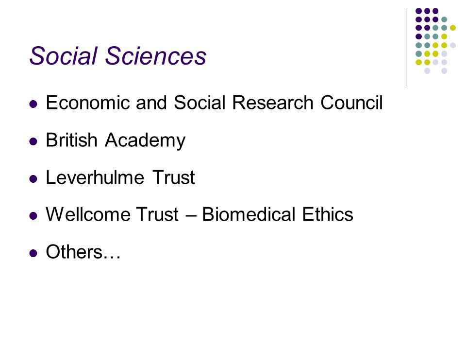 Social Sciences Economic and Social Research Council British Academy