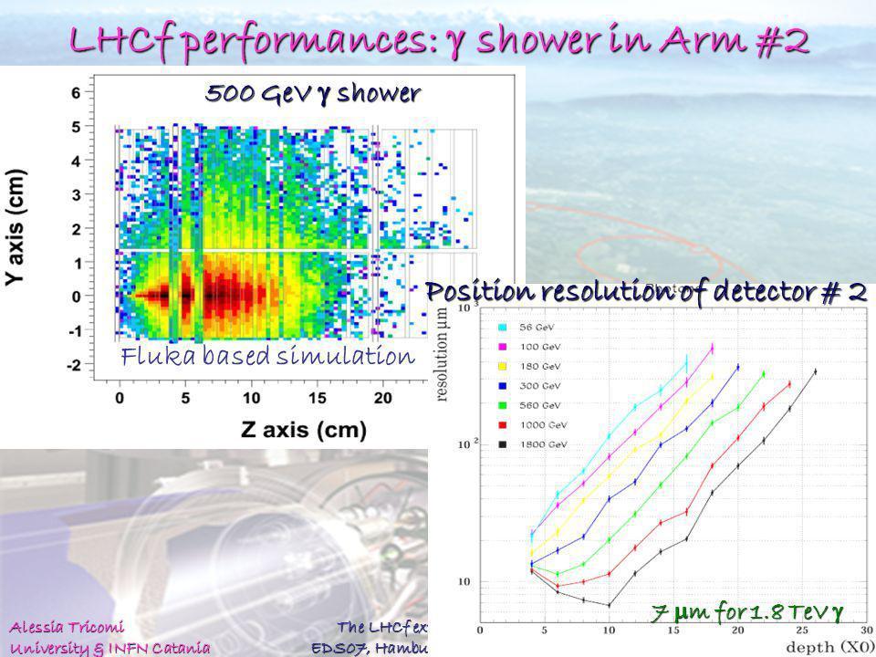 LHCf performances: g shower in Arm #2