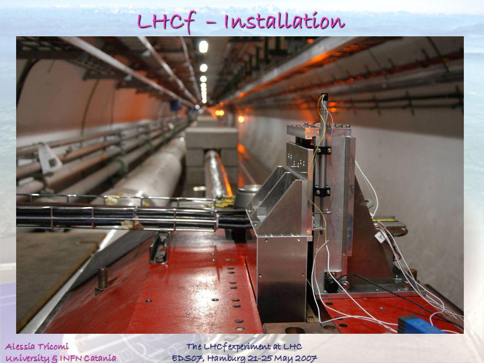The LHCf experiment at LHC EDS07, Hamburg 21-25 May 2007