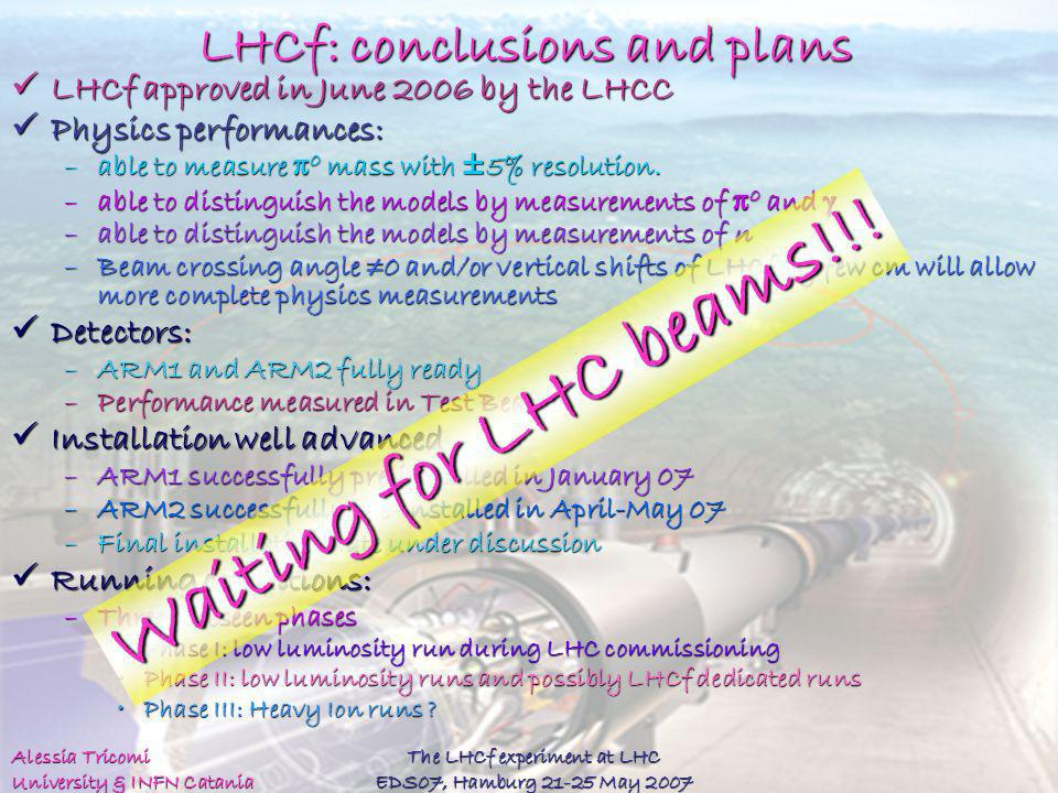 LHCf: conclusions and plans