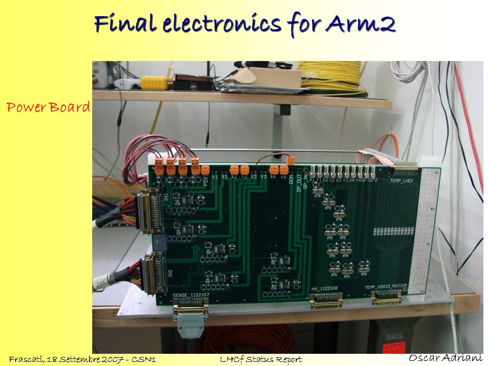 Final electronics for Arm2