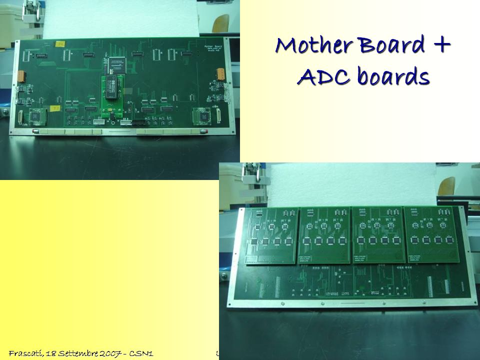 Mother Board + ADC boards