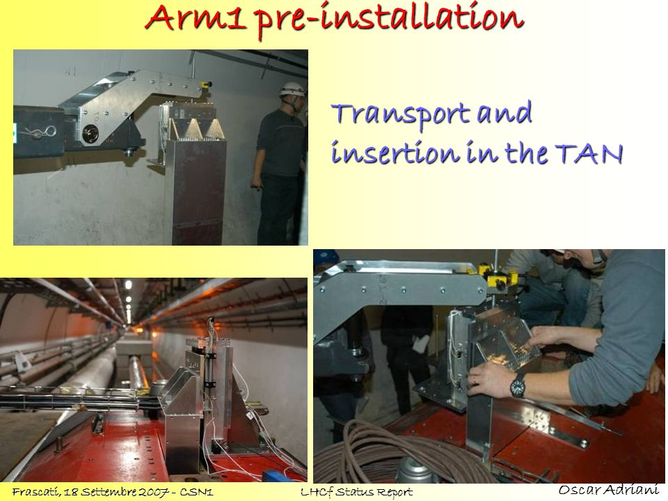 Transport and insertion in the TAN