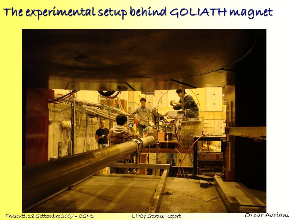 The experimental setup behind GOLIATH magnet