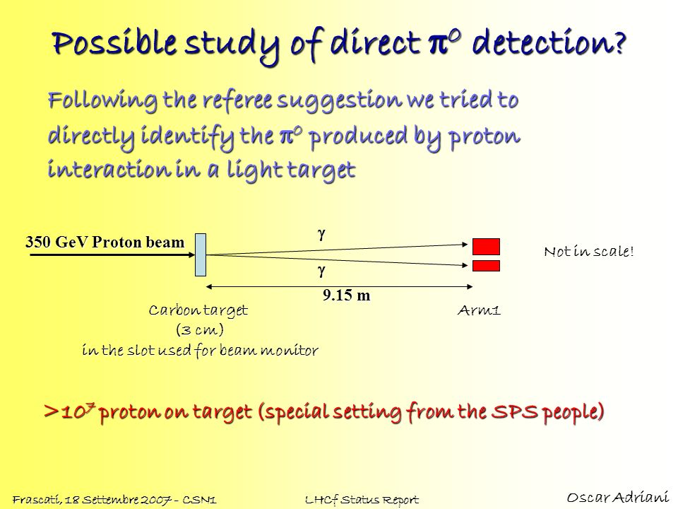Possible study of direct p0 detection