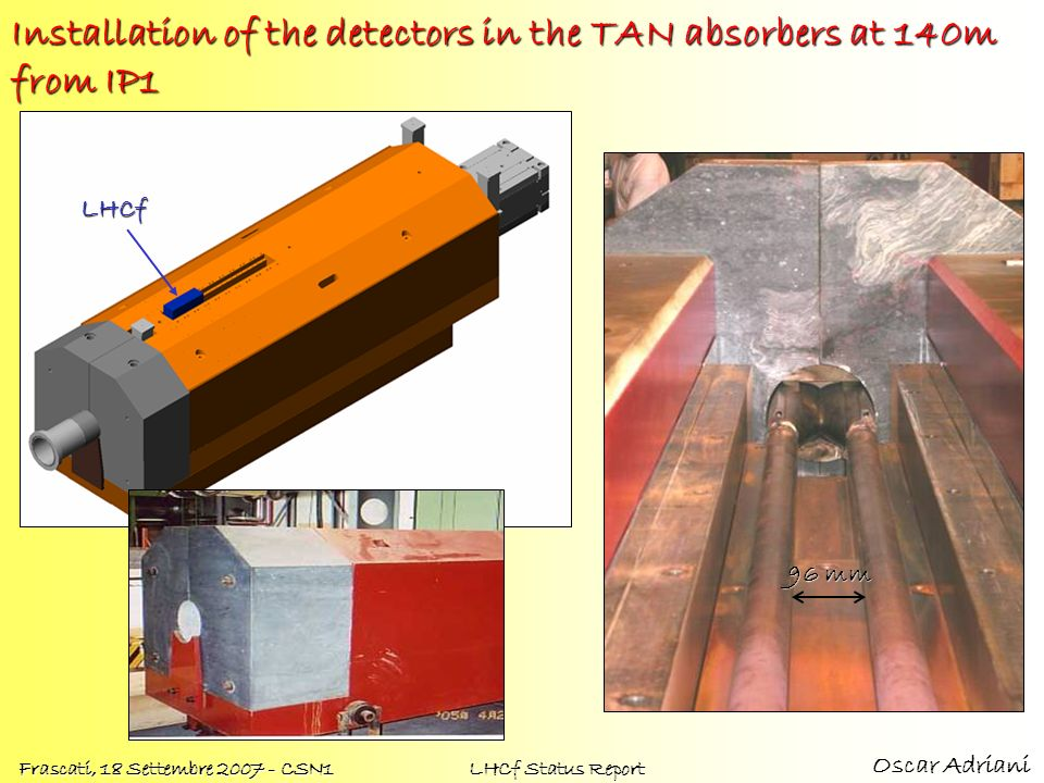 Installation of the detectors in the TAN absorbers at 140m from IP1