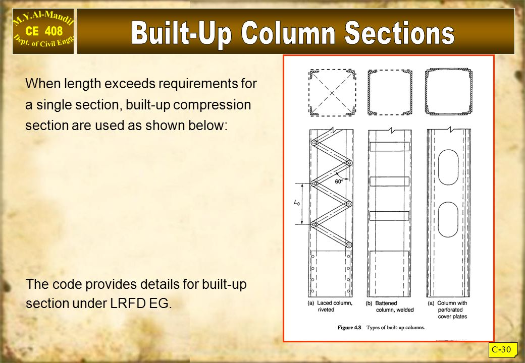 Built-Up Column Sections