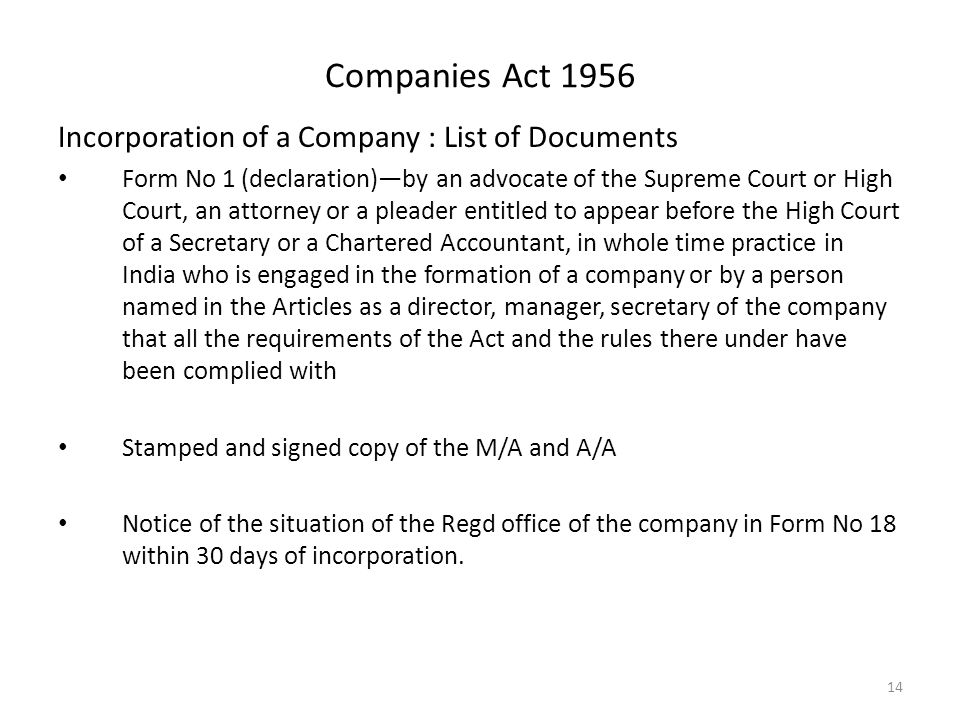 BUSINESS LAW Module I: Companies Act, ppt download