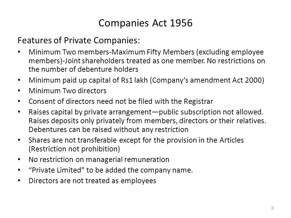 Some features of companies Act 2013