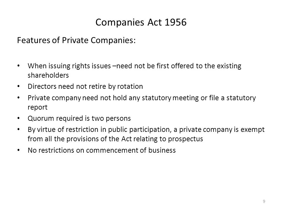 8 Most Important Features of a Company (Indian Companies Act, 1956)