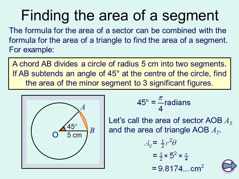 C2 arcs sectors and segments ppt video online download 7 finding ccuart Gallery