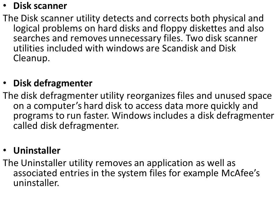 Disk scanner