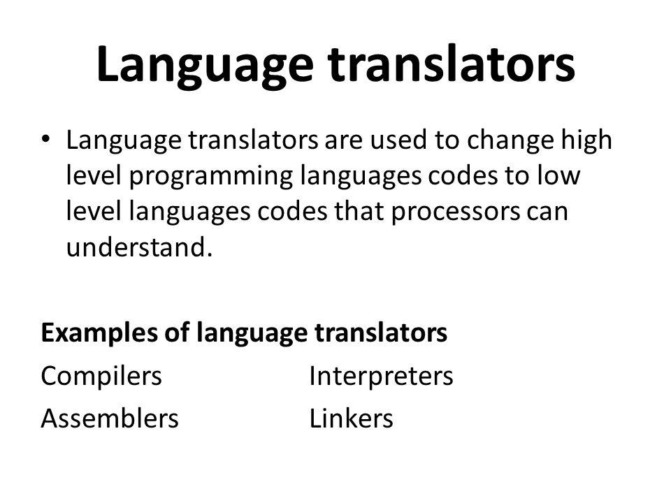 Language translators