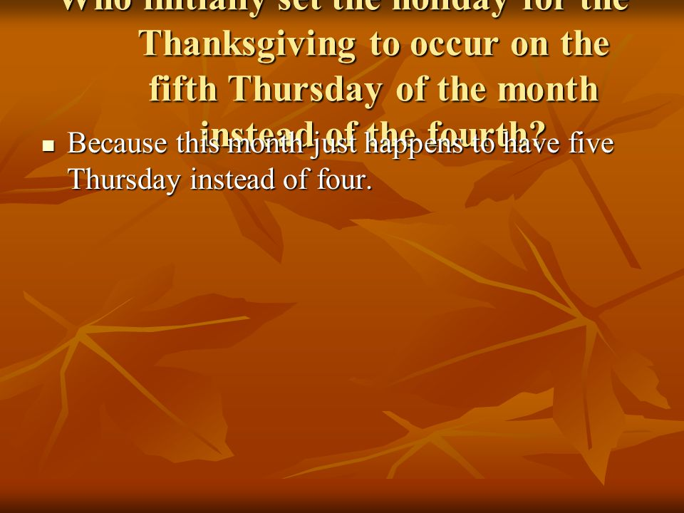 an overview of the thanksgiving day Test your thanksgiving iq and the veritable food fest of thanksgiving day but while you're wondering whether to serve turkey or ham, homemade cranberries or store bought, the meaning of this country's first thanksgiving gets pushed further from memory.