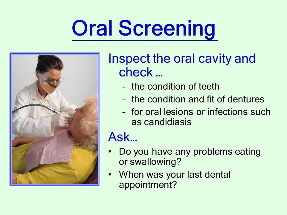 how to ask for oral