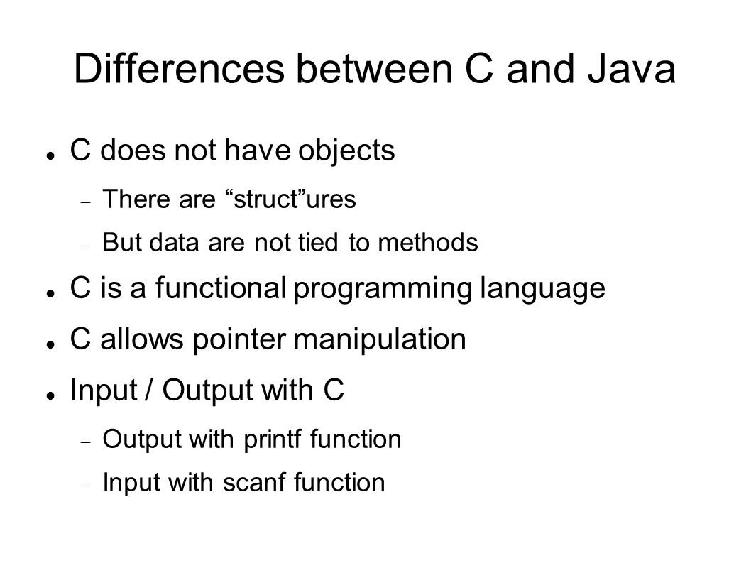 C programming a modern approach ppt download differences between c and java baditri Gallery