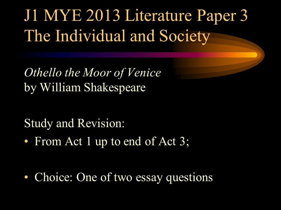 Critique on othello the moor of venice english literature essay