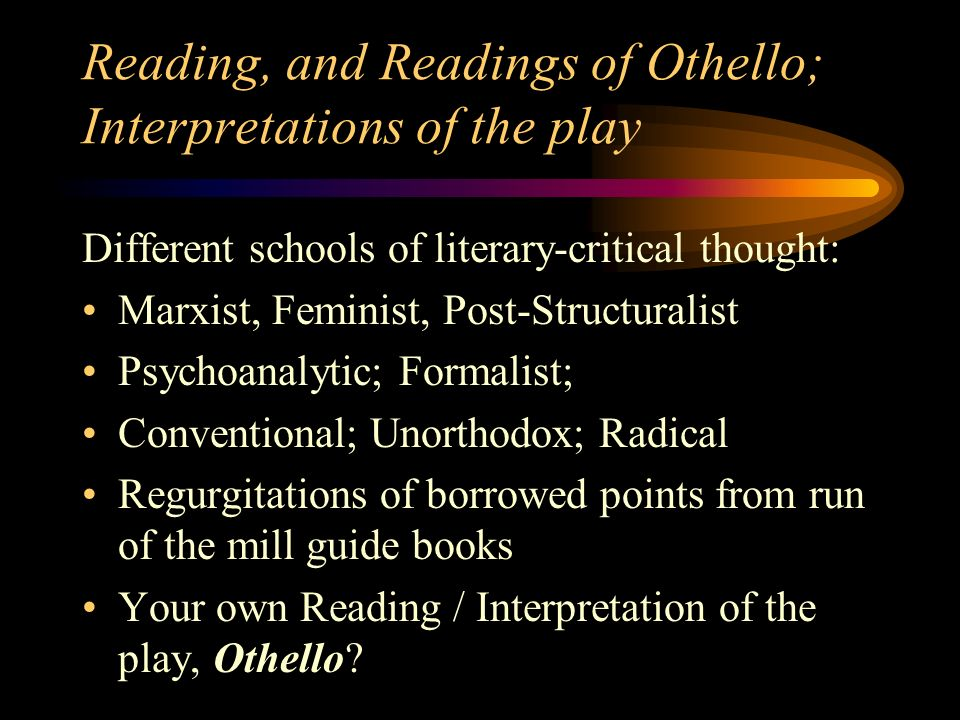 an overview of the concept of irony in the tragedy of othello a play by william shakespeare Othello, in full othello, the moor of venice, tragedy in five acts by william shakespeare, written in 1603–04 and published in 1622 in a quarto edition from a transcript of an authorial manuscript.