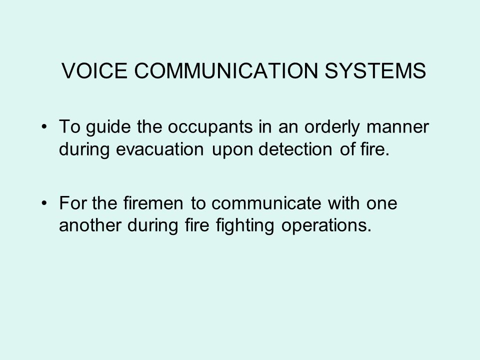 VOICE COMMUNICATION SYSTEMS