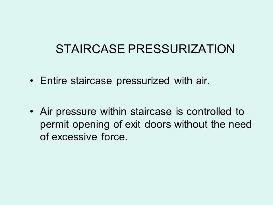 STAIRCASE PRESSURIZATION