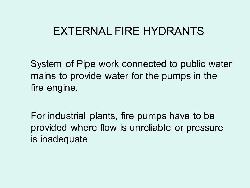 EXTERNAL FIRE HYDRANTS