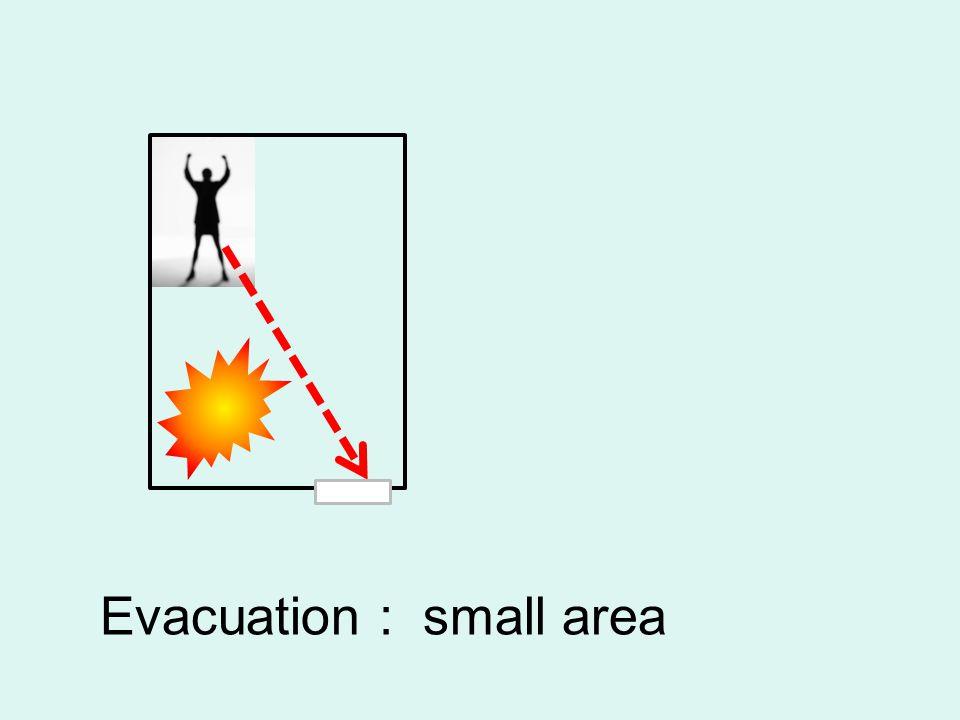 Evacuation : small area