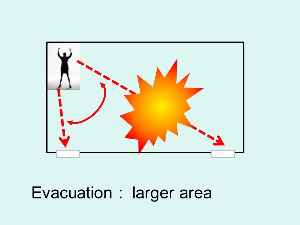 Evacuation : larger area