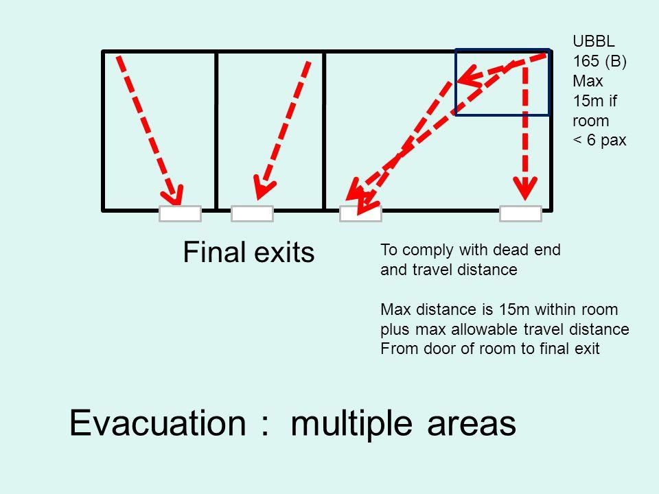 Evacuation : multiple areas
