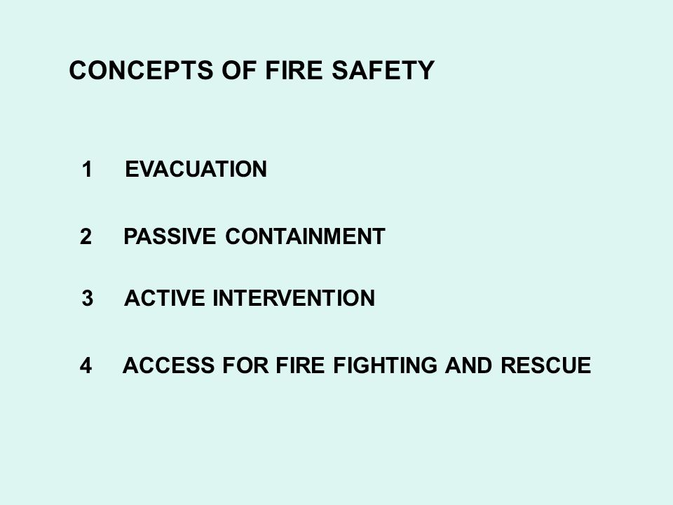 CONCEPTS OF FIRE SAFETY