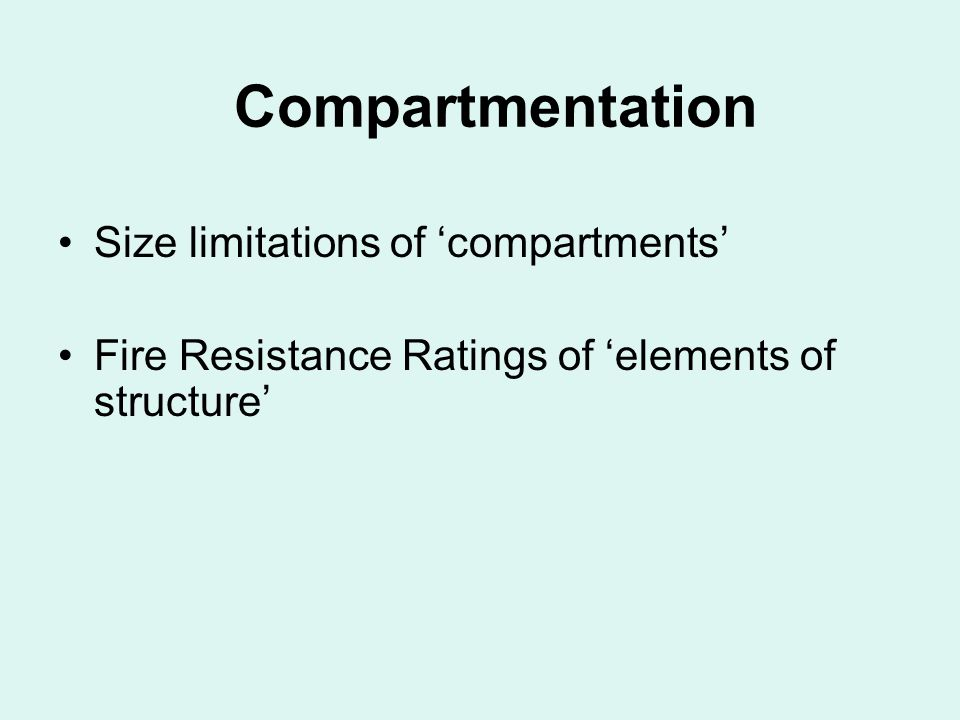 Compartmentation Size limitations of 'compartments'
