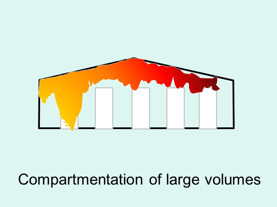 Compartmentation of large volumes