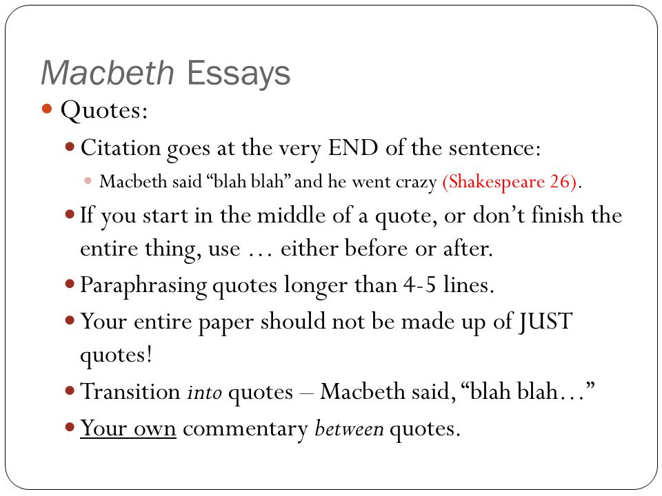 theme essays for macbeth Stuck writing a macbeth essay we have many macbeth example essays that answers many essay questions in macbeth.