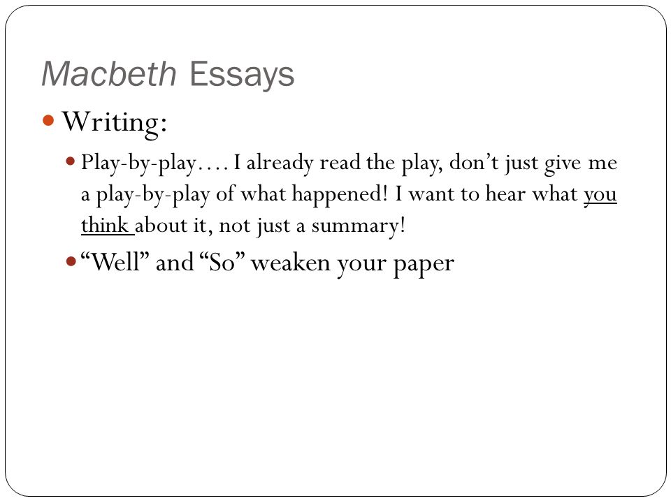 Essay writing as play