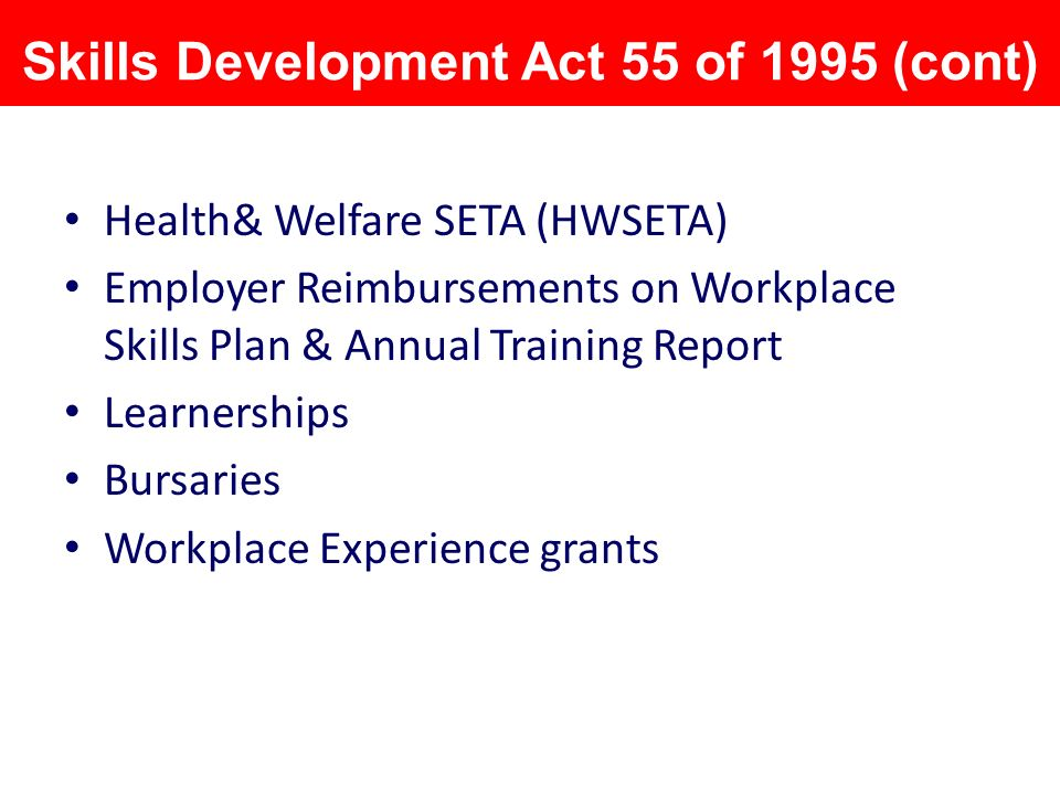 Skills development act