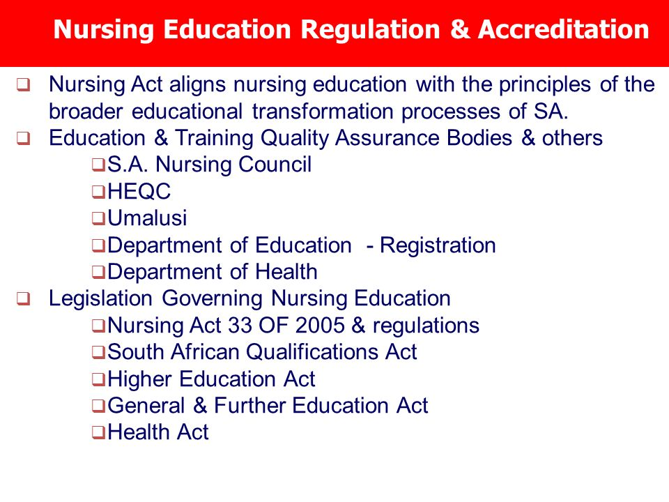 nursing legislation