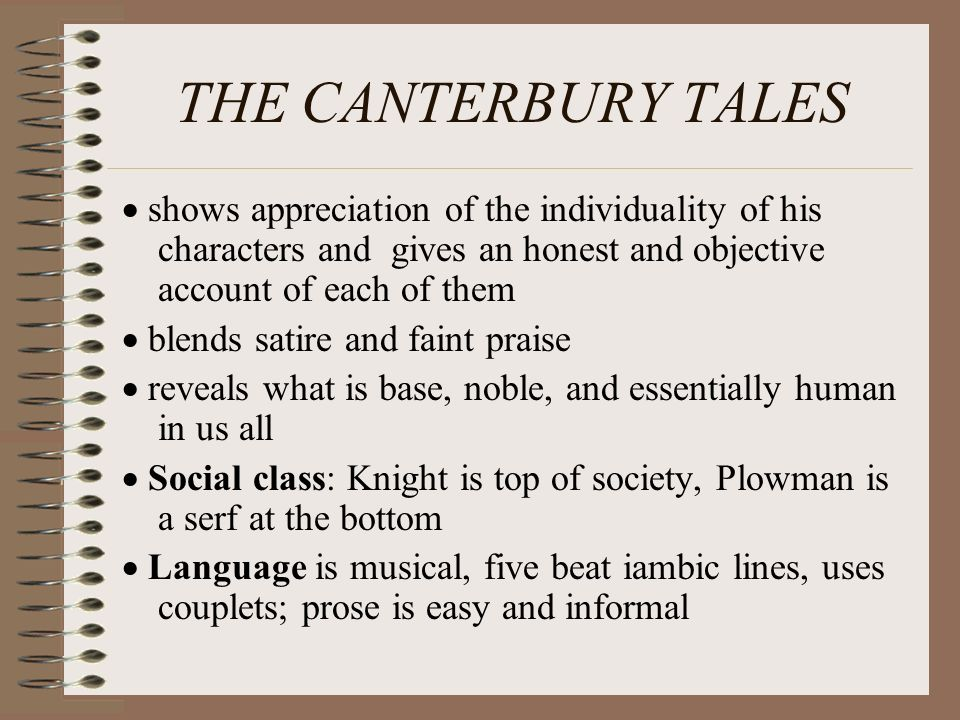an analysis of the medieval society in the canterbury tales by geoffrey chaucer Free essay: character analysis of the wife of bath of chaucer's canterbury tales the canterbury tales is geoffrey chaucer's greatest and most memorable work.