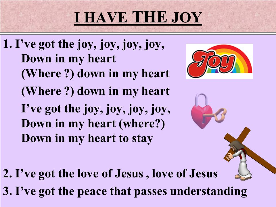 Lyric glad i got jesus down in my heart lyrics : Jesus is my Lord and King He's my brother , my best friend too ...