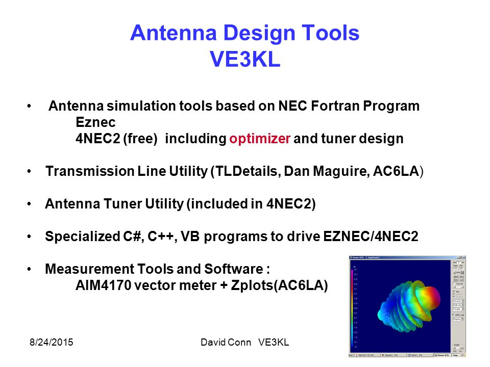 Antenna Design Tools VE3KL