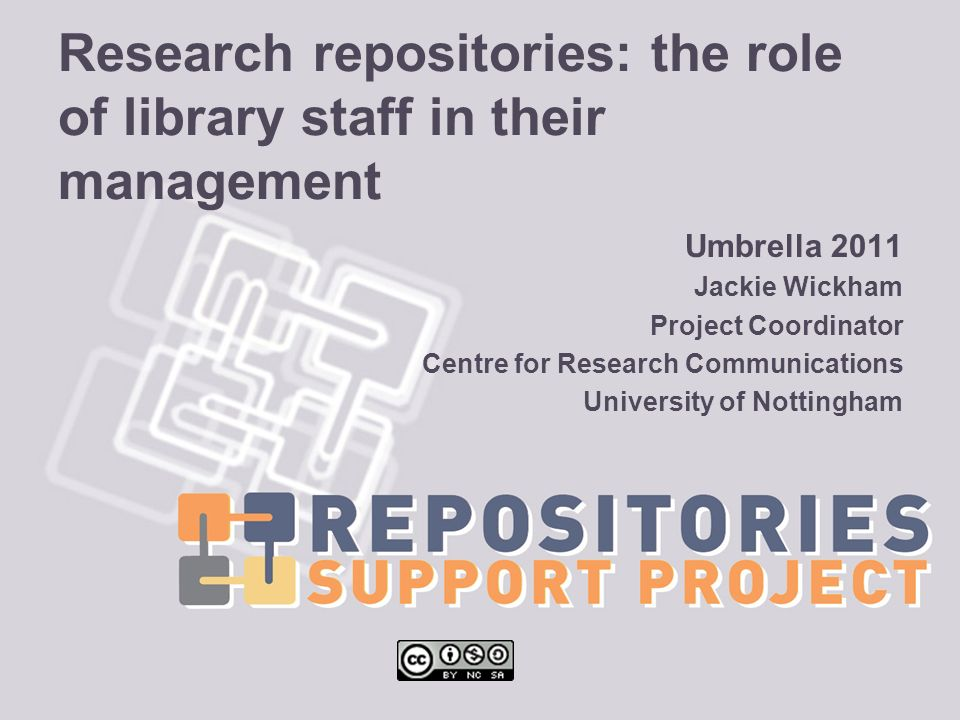 Research repositories: the role of library staff in their management