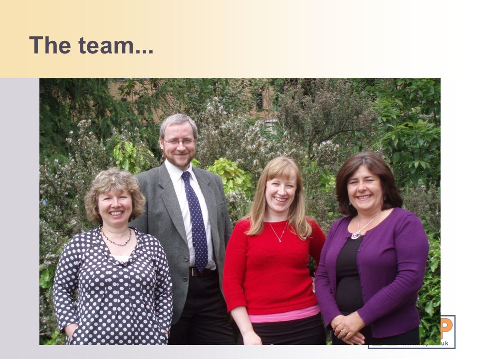 The team...Who we are:
