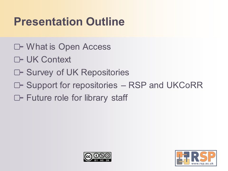 Presentation Outline What is Open Access UK Context