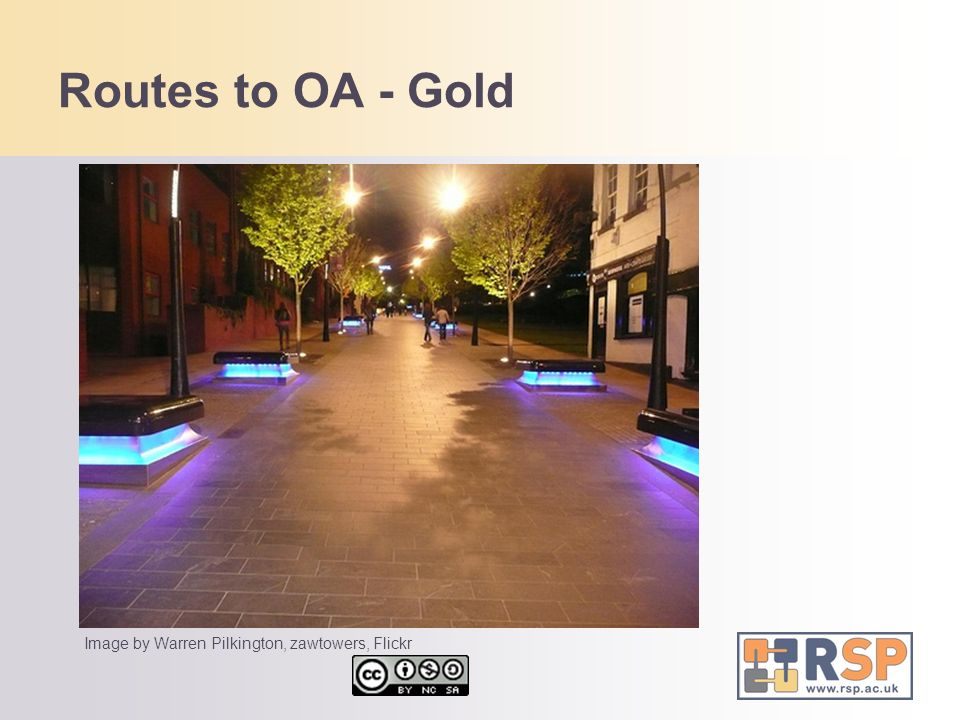 Routes to OA - Gold Image by Warren Pilkington, zawtowers, Flickr