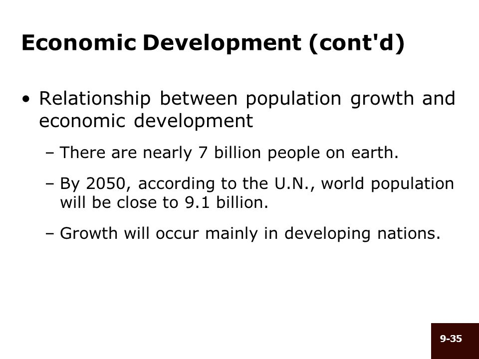 relationship of population growth and economic development