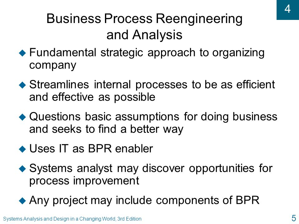 Business Process Reengineering and Analysis