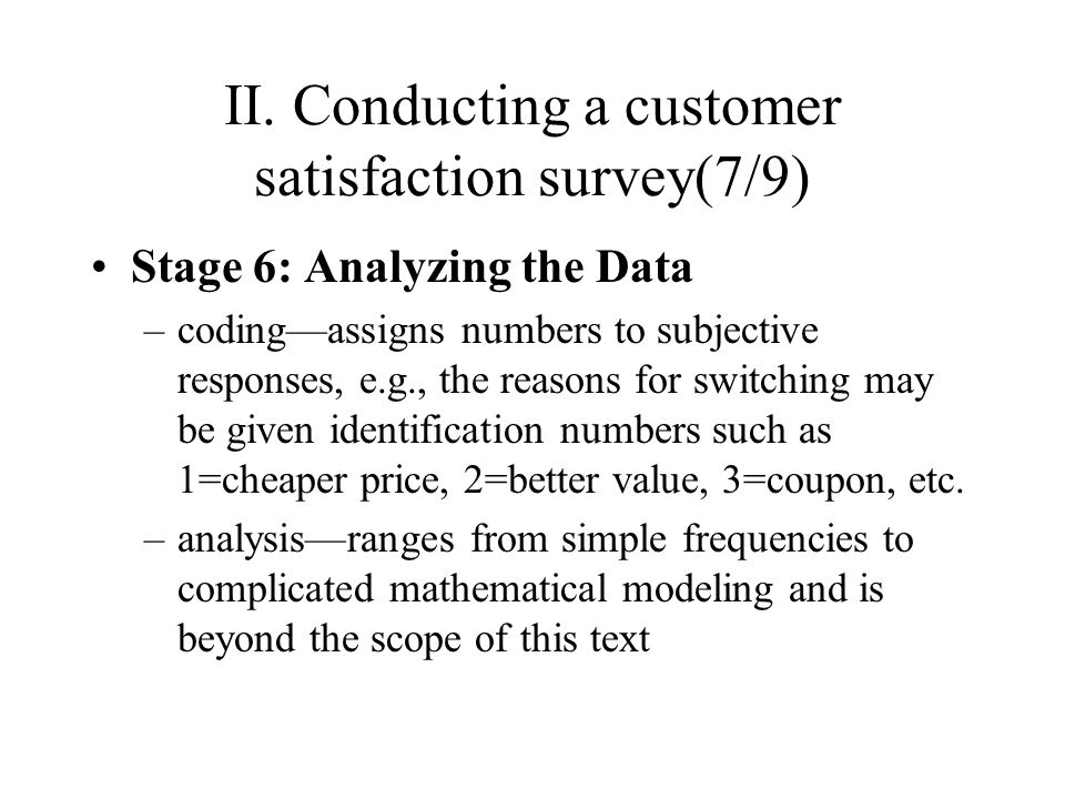 conducting a customer value analysis Learn the key questions and tools needed to define their perceptions using our whitepaper: customer value analysis: how customers make purchase decisions  customer value analysis: how customers make purchase decisions 1  when conducting customer value analysis, it is important not to include only your customers, the respondent pool.