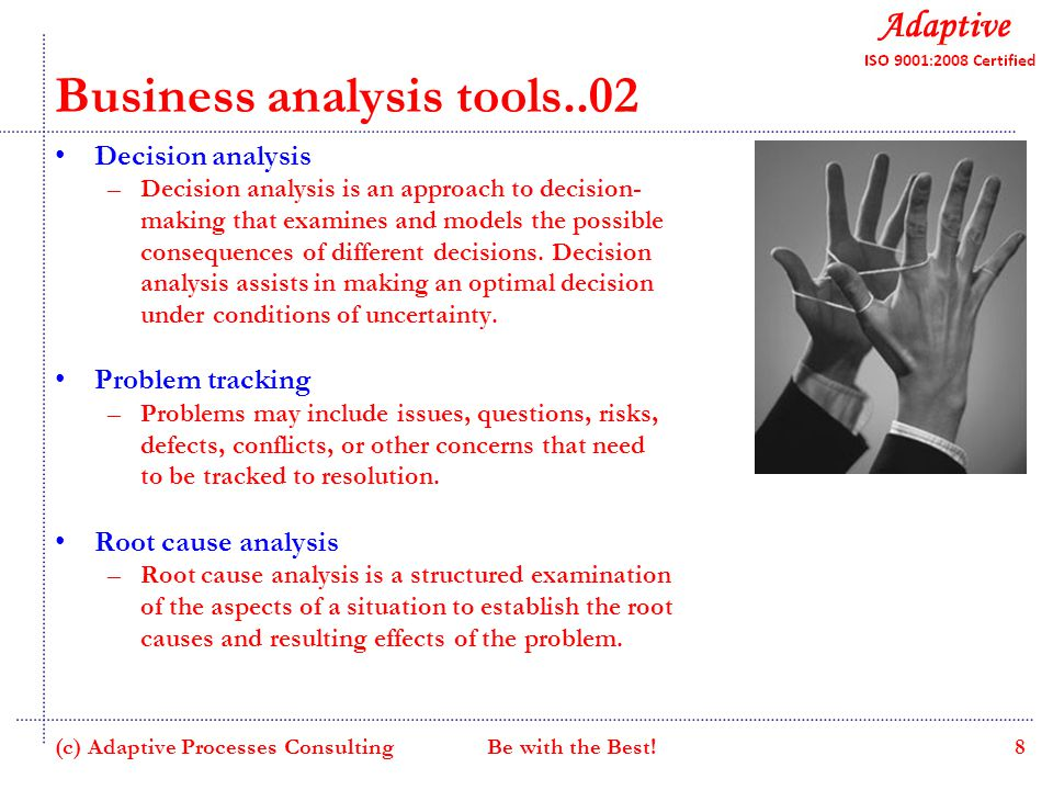 Decision analysis tool explanation essay