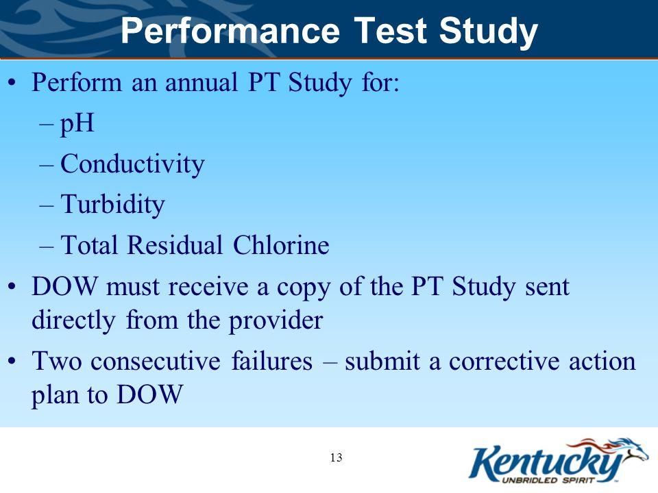 Performance Test Study