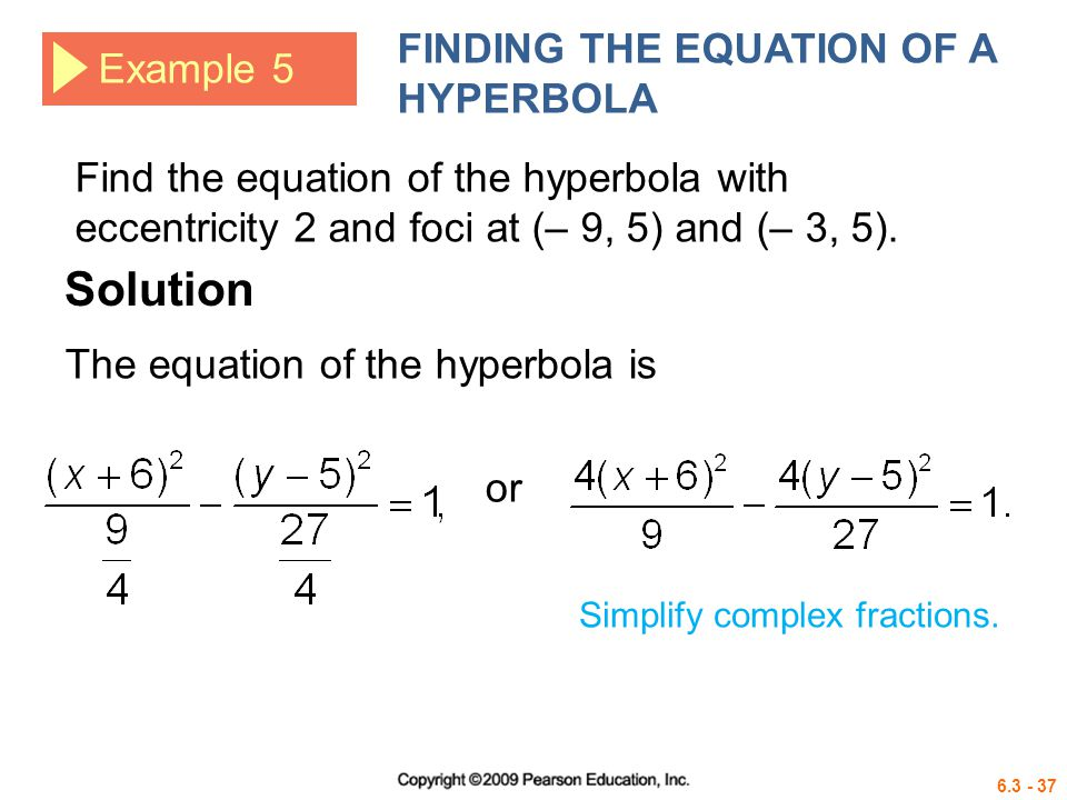 how to find the equation of a rectangular hyperbola