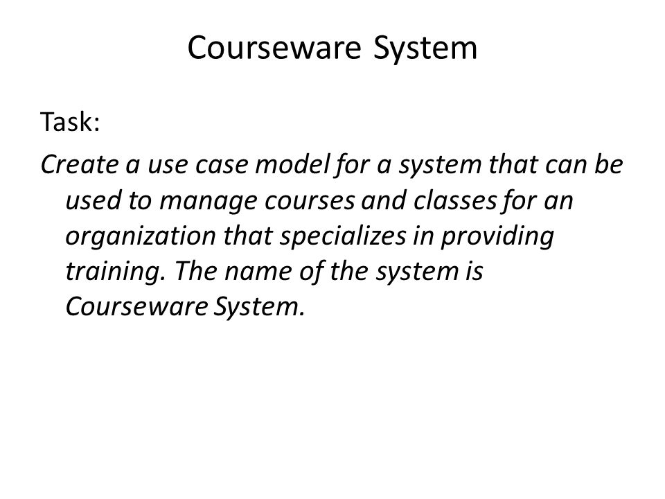 Courseware System